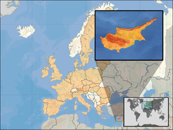 Location of Cyprus in EU