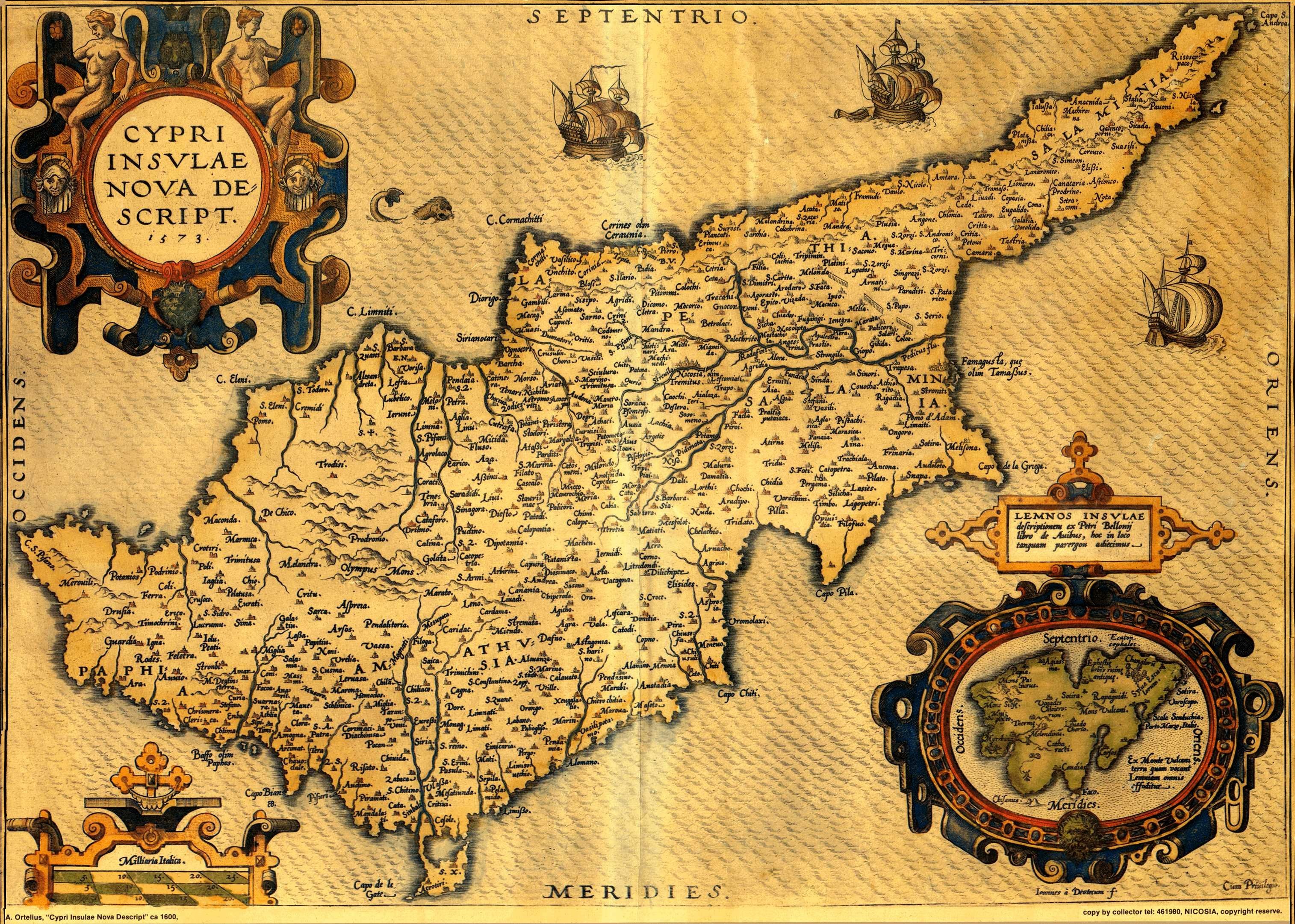 All ancient and antique maps of Cyprus 1500 1914