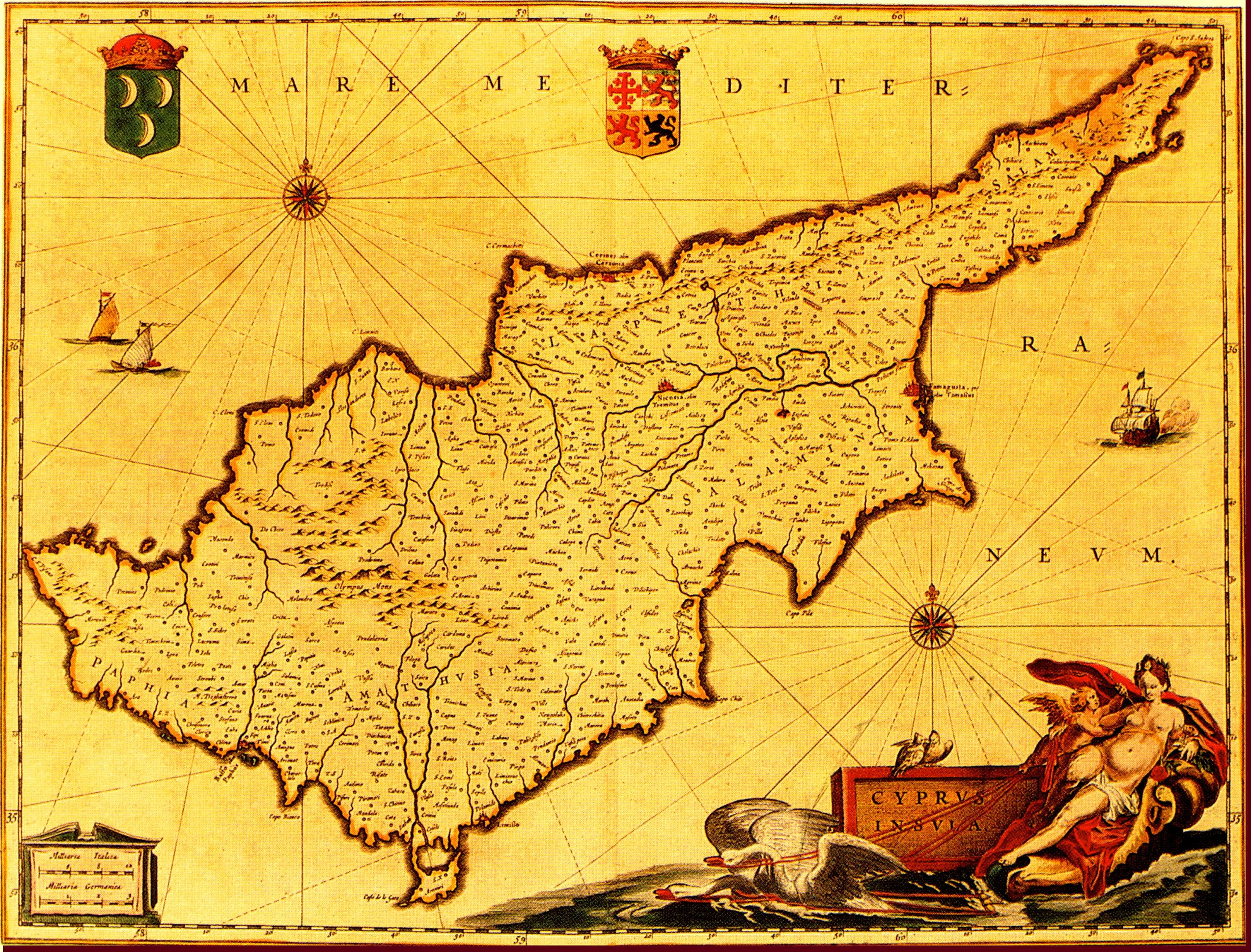 Ancient and antique maps of cyprus 1600 1699 map of cyprus 1627638 bytes gumiabroncs Image collections